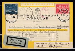 Postkaart Van Malmo 8 Luftpost Naar Bellem - Briefe U. Dokumente