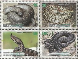 NMK 2020-26 Snakes, NORTH MACEDONIA. 4v, MNH - Serpenti