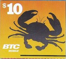 BTC : BAHR12 $10 Crab   (white Logo) No Text USED Exp: 30 NOV 19 - Bahamas