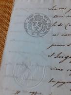 CARTA BOLLATA  6 GRANE REGNO DELLE 2 SICILIE 1854 - Manoscritti
