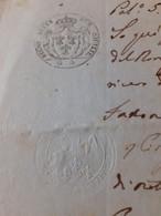 CARTA BOLLATA  3 GRANE REGNO DELLE 2 SICILIE 1856 - Manoscritti