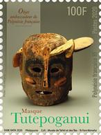 Polynesia 2020 Polynesie Mask Masque Tutepoganui Cultures Ethnicities 1v Mnh - Nuevos