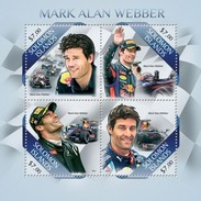 SOLOMON ISLANDS 2013 SHEET MARK WEBBER FORMULA 1 PILOTS FORMULE 1 F1 RACING CARS AUTOS Slm13517a - Solomoneilanden (1978-...)