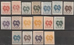 Lituanie Centrale N° 22 - 27  (dentelé Et Non Dentelé) *, Différents Formats Et Nuances - Litauen