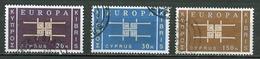 Europa 1963 Chypre - Cyprus - Zypern Y&T N°217 à 219 - Michel N°225 à 227 (o) - 1963