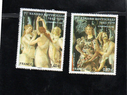 "Timbres N° 4518 / 4419 "" Sandro Botticelli ""  Année 2010 - Usati"