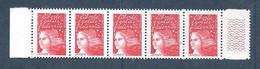 France:Variété Sans Phosphore N°3083a** Réf: Y & T  (cote 75,00€ En Bande De 5.) - Varieties: 1990-99 Mint/hinged
