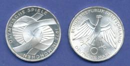 Olympische Spiele 1972, 10DM Silber-Gedenkmünze Verschlungene Arme  -  J - Other