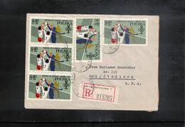 Poland / Polska 1982 Volleyball Interesting Registered Letter - Voleibol
