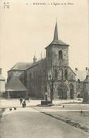 """.CPA  FRANCE 19  """"Meymac, L'église Et La Place"""" - Otros Municipios"""