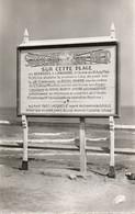 CPA - SAINT-AUBIN-sur-MER - La Plaque Commémorative. - Saint Aubin