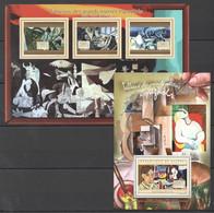 BC049 2012 GUINEE GUINEA ART TABLEAUX GRANDS MAITRES ESPAGNOLS PABLO PICASSO 1KB+1BL MNH - Picasso