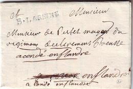 Marque B.LAREINE Lettre De BOURG LA REINE SEINE Signee Par Le PRINCE DE POLIGNAC , Ind 20 = 500 Euros , Texte Deux Pages - 1701-1800: Précurseurs XVIII