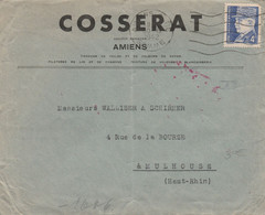 Lettre En-tête : Avec Bande De Censure : Cosserat Amiens - 1921-1960: Modern Tijdperk