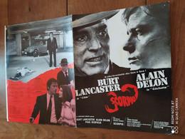 Affiche Du Film SCORPIO Avec Burt LANCASTER (la Cible) Et Alain DELON (la Gachette) - Posters