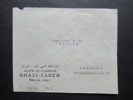 Iran Um 1940 OKW Zensur / Zensurstreifen Geprüft Umschlag Maison De Commerce Ghazi - Zadeh Teheran (Iran) - Iran