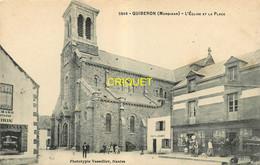 56 Quiberon, Eglise Et Place, Commerces... - Quiberon