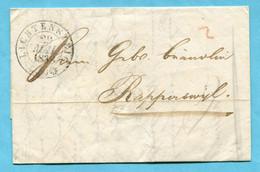 Faltbrief Von Lichtensteig Nach Rapperswil 1838 - ...-1845 Prephilately