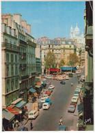 Paris: PEUGEOT 404 BREAK, LANCIA FULVIA COUPÉ, RENAULT 4-COMBI, CITROËN TUBE HY, PANHARD PL17 - La Rue Des Martyrs - Voitures De Tourisme