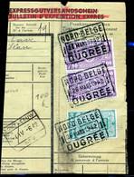 "TR Cachet ""NORD-BELGE - OUGRÉE 1"" - (ref. 764) Op Fragment - 1923-1941"