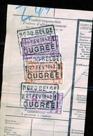 "TR Cachet ""NORD-BELGE - OUGRÉE 1"" - (ref. 766) Op Fragment - 1923-1941"