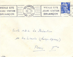 HAUTES ALPES : BRIANCON HTES ALPES OMec RBV 30-11-1953 VIEILLE CITE / JEUNE STATION / BRIANÇON - Sellados Mecánicos (Publicitario)