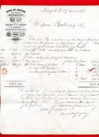 (Ref : F&T 061) Factures & Documents Commerciaux VEUVE DU QUEYLAR MARSEILLE VERRERIES DE LA CAPELETTE - 1900 – 1949