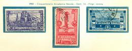V9699 ITALIA REGNO 1931 Accademia Navale, Usati, Serie Completa, Buone Condizioni - Used