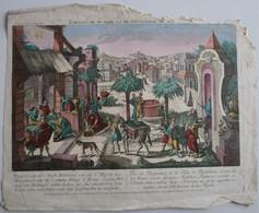 Vue D'Optique/Optische Prent: Vue Ou Perspective De La Ville De Bethlehem - Prenten & Gravure