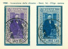 V9706 ITALIA REGNO 1934 Pacinotti, Usati, Serie Completa, Buone Condizioni - Used