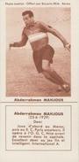 FOOTBALL - Image Biscuits REM - Abderrahman MAHJOUB - Racing Paris - Otros