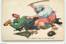 N°15755 - A. Thiele - O Chérie! Que Tu Me Fais Mal - Femme Frappant Son Mari - Fessée - Thiele, Arthur