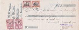 N° 142. +  N° 182 Sur Cheque  Cachet. Frameries  1921 Voir Scan - Covers & Documents