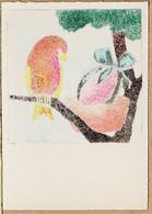 BD081 BARRE DAYEZ N°1304 A - Illustration André STEFAN Série PAQUES Oeuf Nid Oiseaux CPSM 1950s Cpfete - Altre Illustrazioni