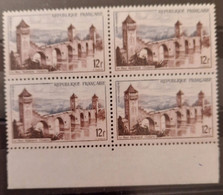 France/French Stamp 1955 N°1039 Papier Carton Bloc De 4 BdF **TB - Ungebraucht