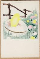 BD181 BARRE-DAYEZ 1304-B Illustration André STEFAN Série PAQUES Oeuf Poussin CPSM 1950s Cpfete Sans Signature Ni Dépot - Altre Illustrazioni