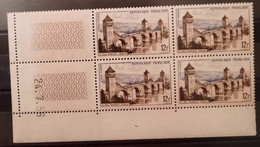 France/French Stamp 1955 N°1039 Papier Carton Bloc De 4 Cd 24/7/56 **TB - 1950-1959