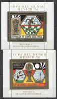 NW0131 GUINEA ECUATORIAL GOLD COPA DE MUNDO MUNICH 74 FOOTBALL OVERPRINT 2BL MNH - 1974 – Alemania Occidental