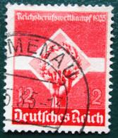 DR Reichsberufswettkampf Mi.Nr. 572y Waagrechte Riffelung Gestempelt M€ 60,-- - Non Classés