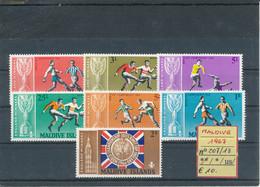 MALDIVE- 1967 N° 207/13 MNH - 1966 – Engeland