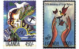 Ref. 77413 * MNH * - UGANDA. 1995. 50th  ANNIVERSARY OF THE UN . 50 ANIVERSARIO DE LA ONU - Uganda (1962-...)