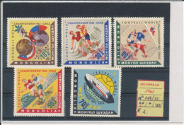 MONGOLIA- 1962 N° 248/52 MNH - 1962 – Chili