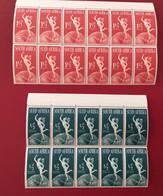 RSA UPU 1949 Große Blocks 1953 Michel 211 - 214 ** - Nuovi