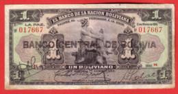 BOLIVIE - 1 Boliviano 11 Mai 1911- Pick 102b - Bolivia