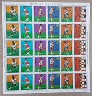 EC122 1986 PARAGUAY SPORT TENNIS WORLD CUP !!! BIG SH FOLDED IN 2 MNH - Tennis
