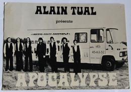 Rare Carte Vintage Groupe De Musique Apocalypse Orchestre Alain Tual Bilais Pontchateau 7 Musiciens Qui Font Fureur - Artisti