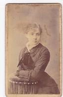 Photo Foto - Formato CDV - Ragazza Con Fiocco Di Velluto - Years '1870 - G. Fantuzzi E C., Reggio Emilia - Oud (voor 1900)