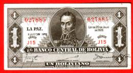 BOLIVIE - 1 Boliviano 20 Julio 1928 - Pick 128 - Bolivia