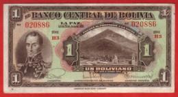 BOLIVIE - 1 Boliviano 20 Julio 1928 - Pick 118 - Bolivia