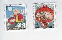 Année Lunaire Chinoise Du Cochon 5296-5298 Oblitérés 2019 - 2010-.. Matasellados